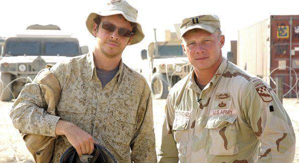 Director Jake Rademacher and his brother Isaac Rademacher in 'Brothers at War.'