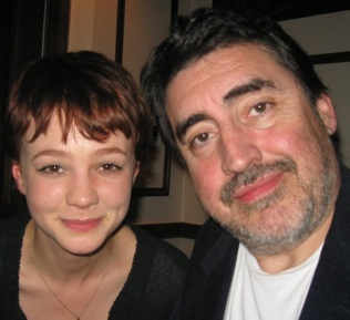 Carey Mulligan and co-star Alfred Molina at the New York press day for 'An Education.'