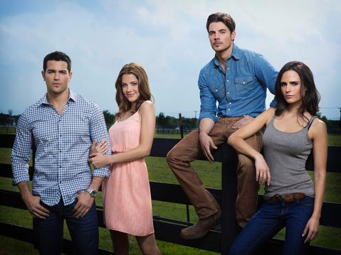 Jesse Metcalfe, Julie Gonzalo, Josh Henderson and Jordana Brewster star in DALLAS.