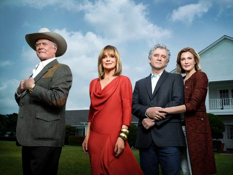 Larry Hagman, Linda Gray, Patrick Duffy and Brenda Strong star in DALLAS.