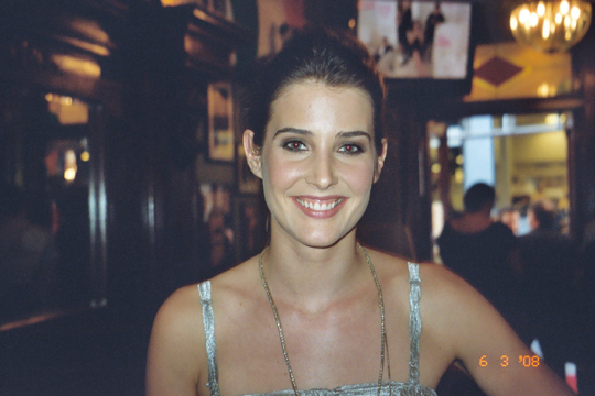 Cobie Smulders at the 'How I Met Your Mother' Academy screening at McGee's Pub in New York City, June 3, 2008. Copyright 2008 Jay S. Jacobs.