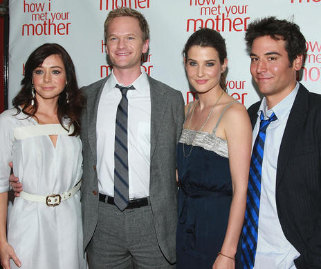 Alyson Hannigan, Neil Patrick Harris, Cobie Smulders and Josh Radnor at the 'How I Met Your Mother' Academy screening at McGee's Pub in New York City, June 3, 2008.