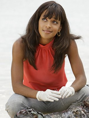Megalyn Echikunwoke as Dr. Tara Price in 'CSI: Miami.'