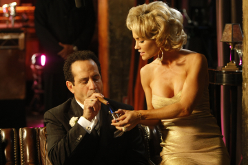 "MONK -- ""Mr. Monk is Some Else"" Episode 8008 -- Pictured: (l-r) Tony Shalhoub as Adrian Monk, Kelly Carlson as Lola -- USA Network Photo: Hopper Stone"