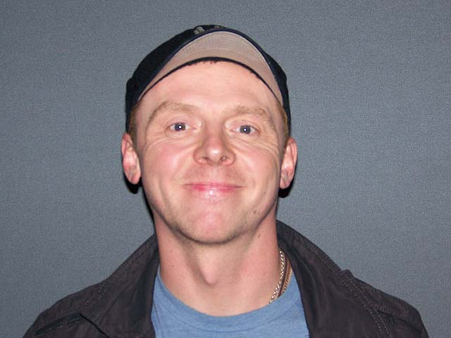 Simon Pegg at the New York press day for PAUL.