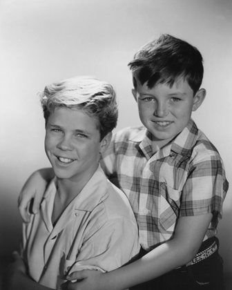 Tony Dow and Jerry Mathers in 'Leave It to Beaver.'