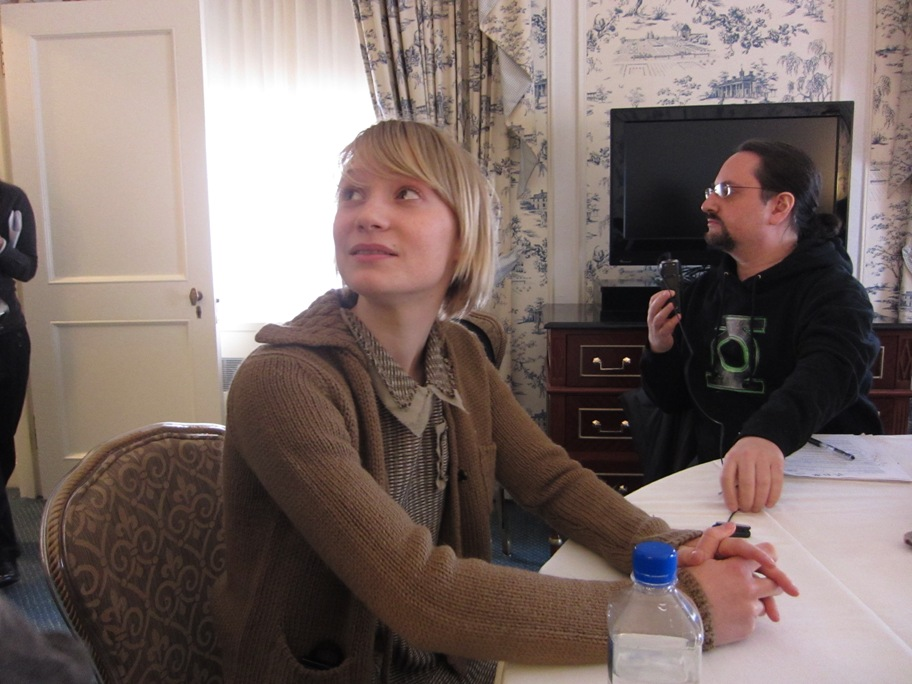 Mia Wasikowska at the JANE EYRE press day at the Waldorf-Astoria Hotel, February 10, 2011.