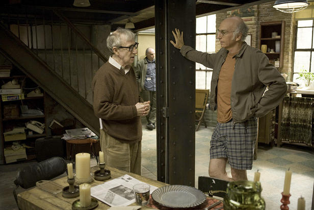 Woody Allen and Larry David making 'Whatever Works.'