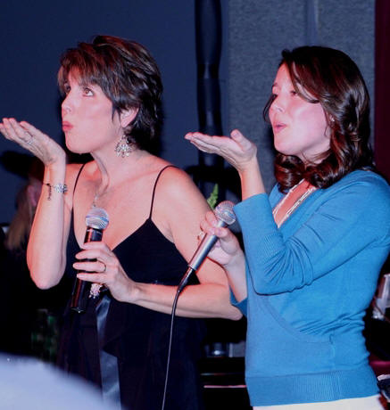 Lucie Arnaz and daughter Kate Luckinbill at Birdland in 2007.