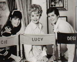 Lucie Arnaz, Lucille Ball and Desi Arnaz, Jr. on 'Here's Lucy' in 1968.