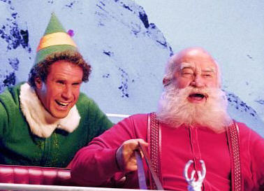 Will Farrell and Ed Asner in 'Elf.'