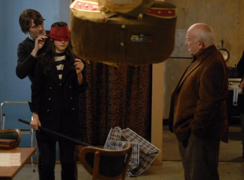 Paul Dano, Zooey Deschanel and Ed Asner in 'Gigantic.'