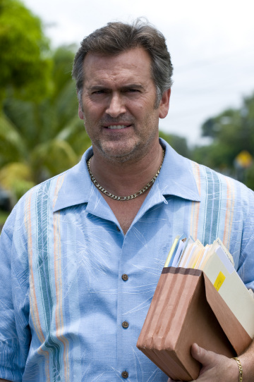 "BURN NOTICE -- ""Do Not Harm"" Episode 210 -- Pictured: Bruce Campbell as Sam Axe -- USA Network Photo: Glenn Watson"