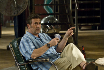 "BURN NOTICE -- ""Breaking and Entering"" Episode 201 -- Pictured: Bruce Campbell as Sam Axe -- USA Network Photo: Dan Littlejohn"
