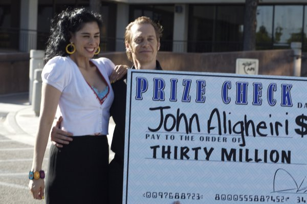 Sarah Silverman and Steve Buscemi in the Indie Vest picture 'Saint John of Las Vegas.'