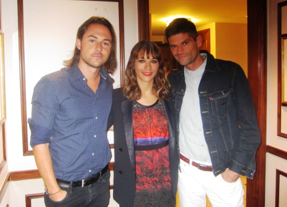 Lee Toland Krieger, Rashida Jones and Will McCormack at the New York press day for CELESTE AND JESSE FOREVER - The Regency Hotel, New York, July 31, 2012.