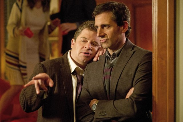 Patton Oswalt and Steve Carell star in SEEKING A FRIEND FOR THE END OF THE WORLD.