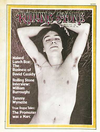 David Cassidy's infamous 'Rolling Stone' cover, photo by Annie Leibovitz.