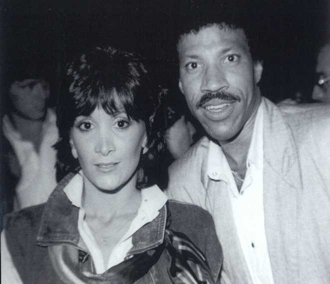 Charlene Oliver with Lionel Richie circa 1983.