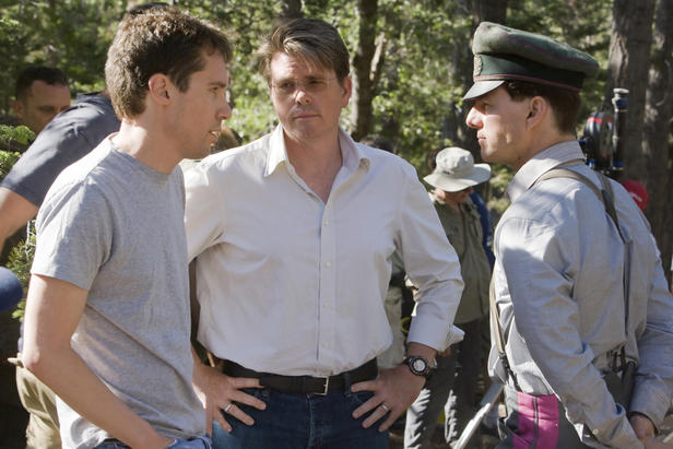 Bryan Singer, Christopher McQuarrie and Tom Cruise making 'Valkyrie.'