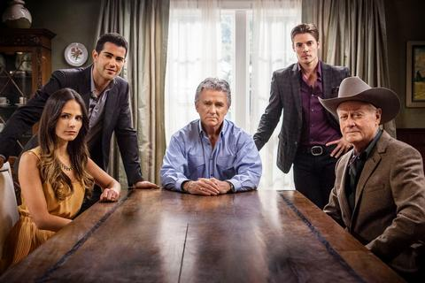 Jordana Brewster, Jesse Metcalfe, Patrick Duffy, Josh Henderson and Larry Hagman star in DALLAS.