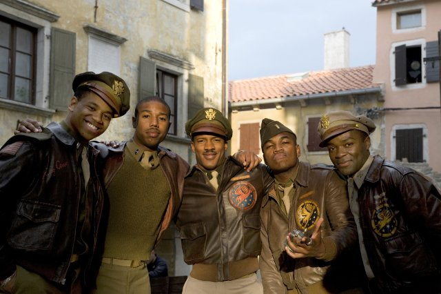 Michael B. Jordan, David Oyelowo, Ne-Yo, Nate Parker and Tristan Wilds in RED TAILS