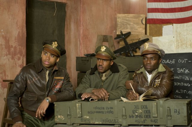 David Oyelowo, Nate Parker and Tristan Wilds in RED TAILS