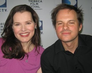 Geena Davis and Andrew Lancaster at the 'Accidents Happen' screening at the Tribeca Film Festival.