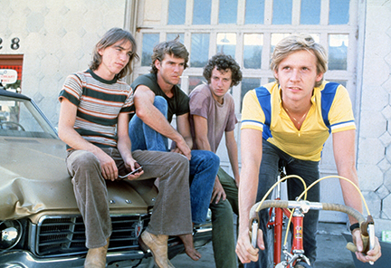 "Jackie Earle Haley, Dennis Quaid, Daniel Stern and Dennis Christopher star in ""Breaking Away."""
