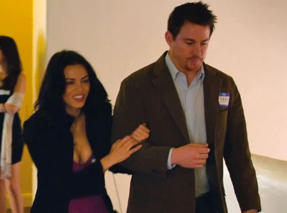"Jenna Dewan and Channing Tatum star in ""10 Years."""