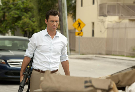 "BURN NOTICE -- ""Means & Ends"" -- Pictured: Jeffrey Donovan as Michael Westen -- (Photo by Glenn Watson/USA Network)"