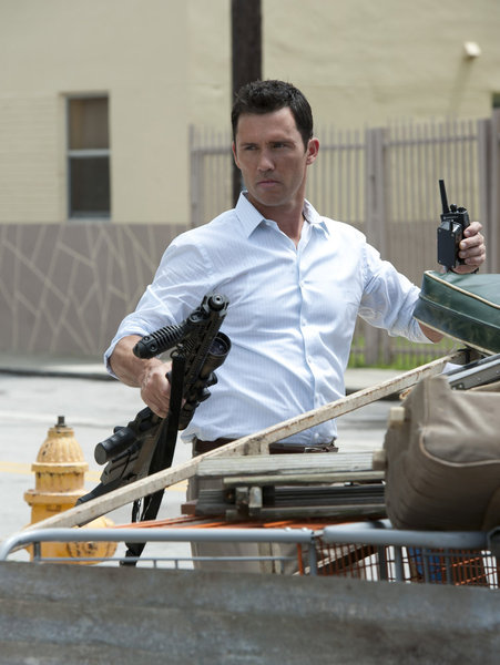 "BURN NOTICE -- ""Means & Ends"" -- Pictured: Jeffrey Donovan as Michael Westen -- (Photo by Glenn Watson/USA Network"
