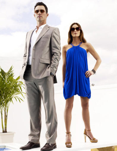 BURN NOTICE -- Pictured: (l-r) Jeffrey Donovan as Michael Westen, Gabrielle Anwar as Fiona Glenanne -- USA Network Photo: Joe Pugliese