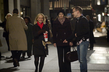 Amy Poehler, Tina Fey and Michael McCullers making 'Baby Mama.'