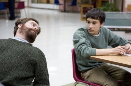 Zach Galifianakis (left) and Keir Gilchrist (right) star in writer/directors Anna Boden and Ryan Fleck's IT'S KIND OF A FUNNY STORY, a Focus Features Release.