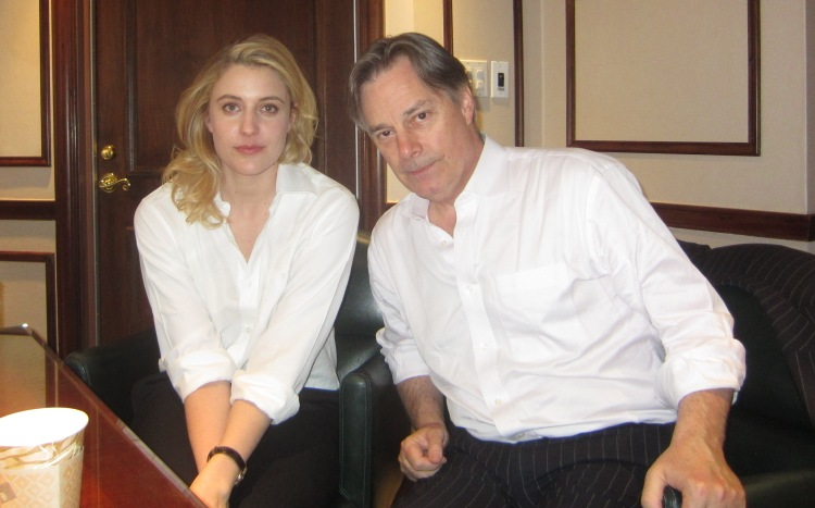 "Greta Gerwig and Whit Stillman at the New York press day of ""Damsels in Distress"" April 2, 2012."
