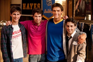 Kelly Blatz, Drew Seeley, Hartley Sawyer and Matt Bush star in GLORY DAZE.