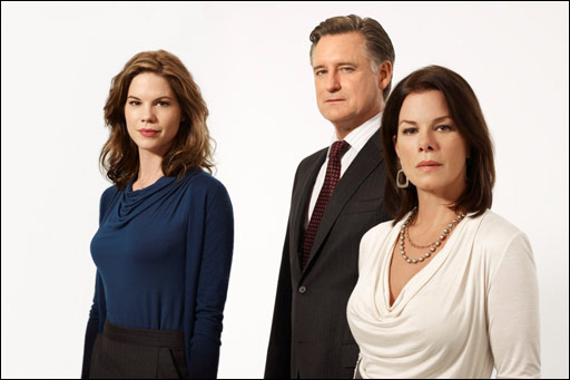 Mariana Klaveno, Bill Pullman and Marcia Gay Harden star in the TNT Mystery Movie 'Scott Turow's Innocent.'