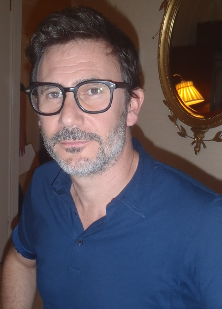 Michel Hazanavicius at the New York press day for THE ARTIST.