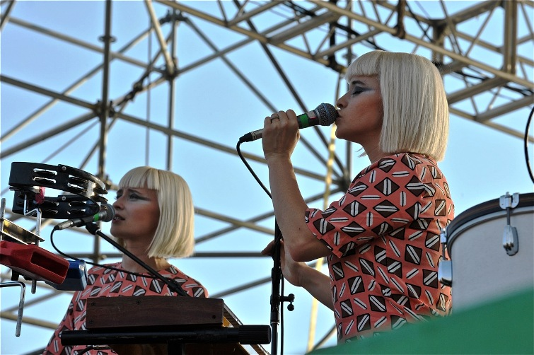 Lucius - 2014 XPoNential Music Festival Day One - The River Stage at Wiggins Park - Camden, NJ - July 25, 2014 - photo by Jim Rinaldi � 2014
