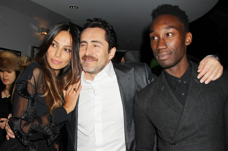 Madalina Ghenea, Demián Bichir and Jumayne Hunter at the New York Premiere of 'Dom Hemingway.'  March 28, 2014.