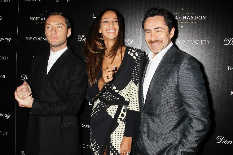 Jude Law, Madalina Ghenea and Demián Bichir at the New York Premiere of 'Dom Hemingway.'  March 28, 2014.