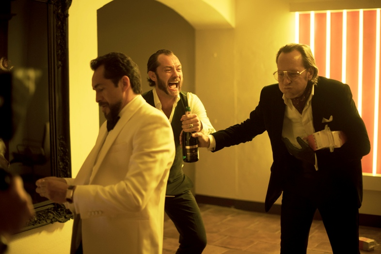 Demián Bichir, Jude Law and Richard E. Grant star in 'Dom Hemingway.'