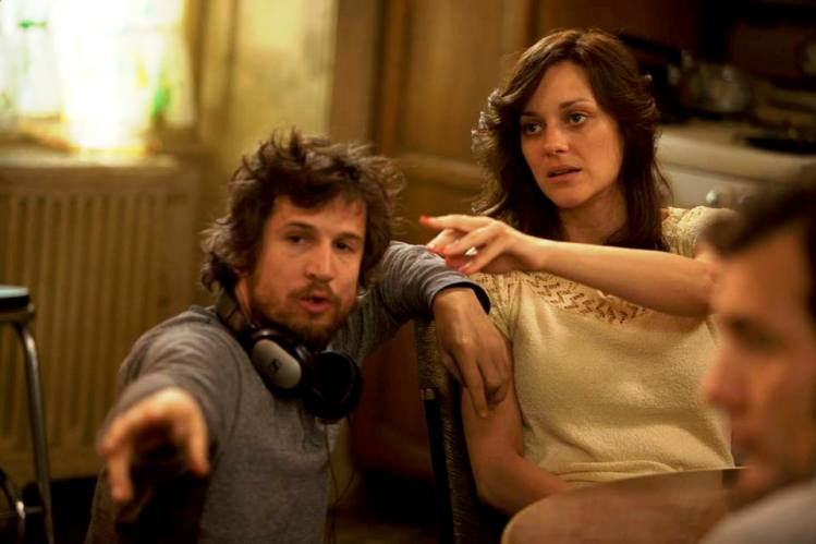 'Blood Ties' director Guillaume Canet with Marion Cotillard and Clive Owen on set.