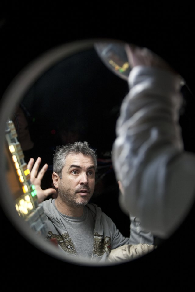"Director Alfonso Cuaron making ""Gravity."""