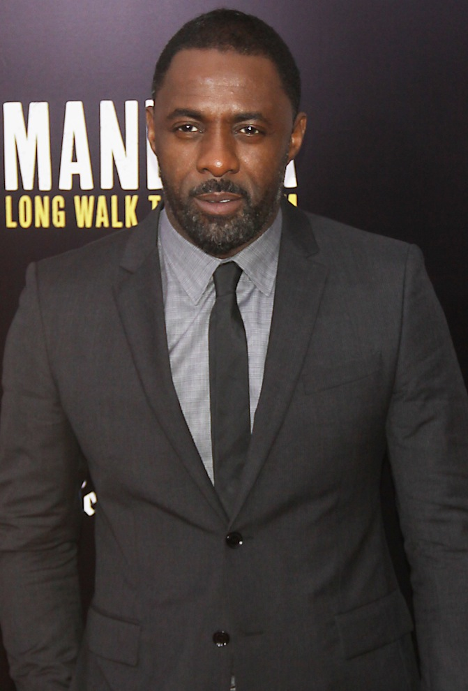 "Idris Elba in New York discussing ""Mandela: The Long Walk To Freedom"""