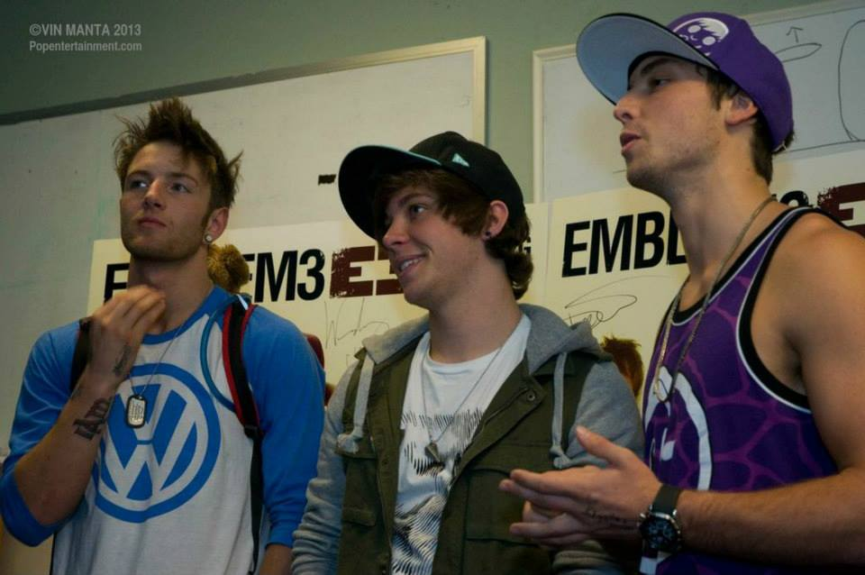 "EMBLEM3 at the ""Nothing to Lose"" CD signing in Fairless Hills, PA - July 31, 2013. Photo � 2013 Vin Manta"