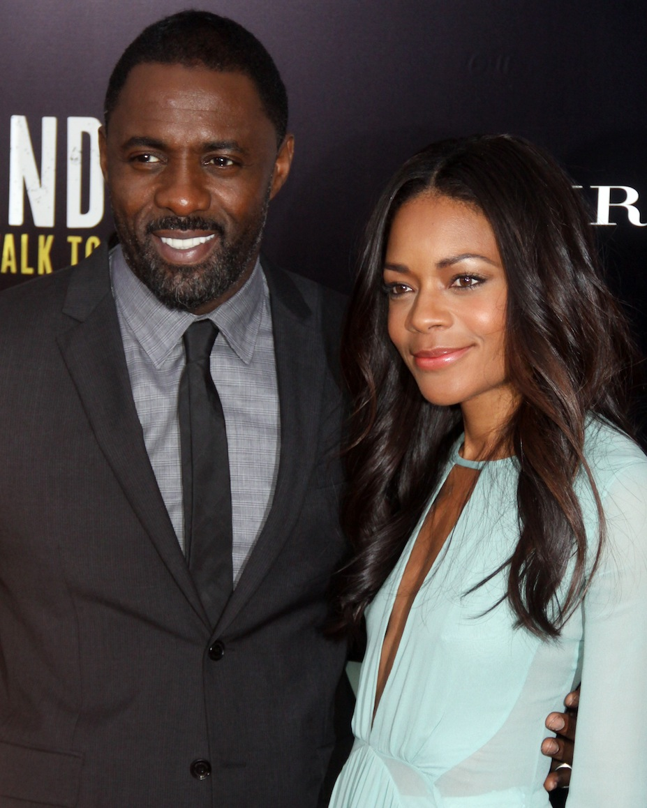 "Idris Elba and Naomie Harris in New York discussing ""Mandela: The Long Walk To Freedom"""