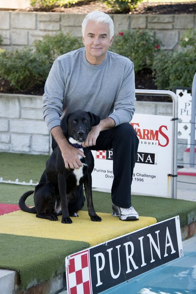 NATIONAL DOG SHOW PRESENTED BY PURINA -- Pictured: (l-r) Morgan, John O'Hurley -- (Photo by: Rick Stankoven/NBC)