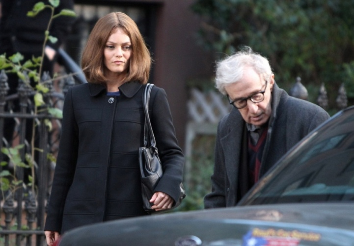 "Vanessa Paradis and Woody Allen star in ""Fading Gigolo."""